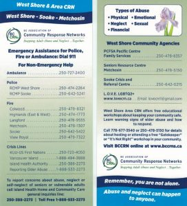 Westshore Rack Card