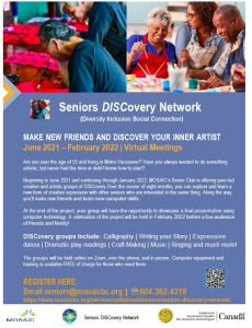 Seniors DISCovery Network - June 2021 to January 2022